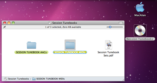 MIDI file window